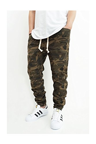 OLIVE TWILL CROTCH JOGGER PANTS product image