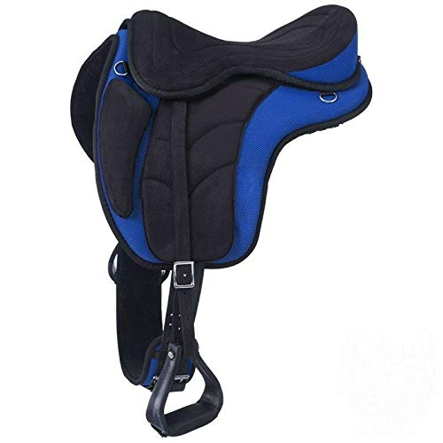 (ME Enterprises Synthetic Treeless Endurance Saddles Get Matching Girth & Stirrups, Size 14