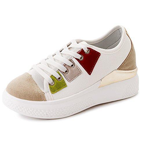 Zapatos De Lona Versátiles,Zapatos Feos Con Suelas Gruesas,Zapatos De Mujer En El Gimnasio A