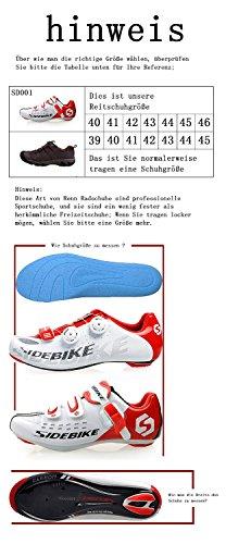 Unisex Herren/Damen Straßen COMP Rennradschuhe Fahrradschuhe EU Größe 40 -- 45 (EU Größe 42(270mm)Schuh Vorfuß Breite: 88.74mm)