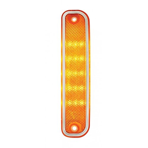1973-80 Chevy GMC Truck Front LED Side Marker Light with Trim – Amber 74 75 76