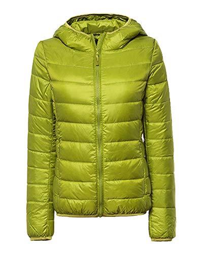 1 ZiXing Lightweight Down Warm Packable Ultra Women's Outdoor Green Coat Jacket Hooded Puffer wqOwgRrB7