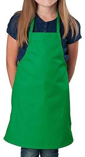 - Kelly Green Kids Apron, Medium Bib