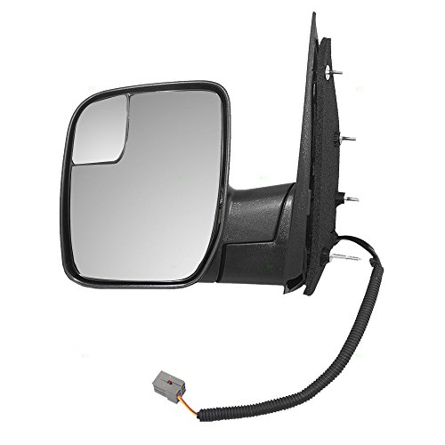 Power Side View Mirror with Spotter Glass Sail Type Driver Replacement for 09-14 Ford E-Series Van AC2Z 17683 ()