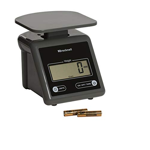 Brecknell Electronic Postal Scale, 7 Lbs Capacity, 6-4/5 x 5-3/5 Inches Platform, Gray (PS7) ()