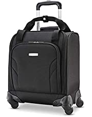 Samsonite Underseat Carry-On Spinner with USB Port, Jet Black