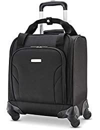 Underseat Spinner with USB Port Carry-On Luggage, Jet Black, One Size