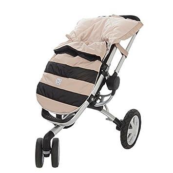 Amazon.com : 07 a.m. Abeja Pod bebé Bunting Bolsa para cochecitos y Car-Asientos con extraíble Panel posterior, Negro / Beige, Medium / Large : Baby