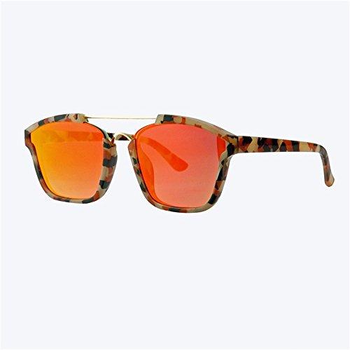 película gafas Amarillo plana de cuadrada hombre de Gran XIAOGEGE reflectante sol color sol caja chica gafas de Amarillo aqUfwp