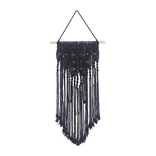 vanpower Cotton Yarn Macrame Wall Butterfly ?Hanging Tapestry Handmade Gift (Black)