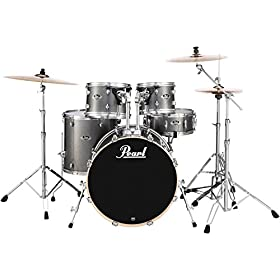 Pearl Export EXX 5-Piece Drum Set with Hardware - Fusion Configuration- Grindstone Sparkle 6