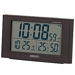 Seiko Clock Alarm Clock Radio Digital Calendar Comfort Temperature Humidity Display White Pearl Price Tender None BC402W (Black)