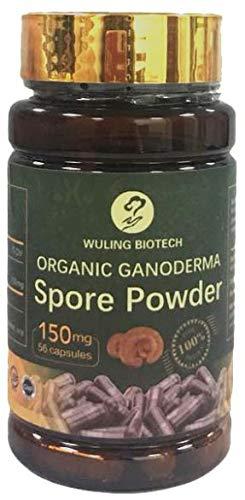 Certified Organic Ganoderma Reishi Mushroom Spore Powder Capsules 150mg Immune System Builder for Healthy Lifestyle and…