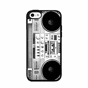 Vintage Boombox - 2-piece Dual Layer High Impact Phone Case Back Cover (iPhone 5/5s)