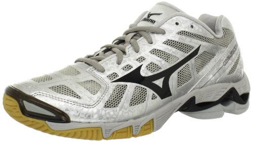 Mizuno Women's Wave Lightning RX2 Volleyball Shoe,Silver/Black,8.5 B US