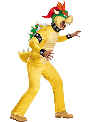 Bowser Deluxe Costumes - Deluxe Bowser Adult Costume -