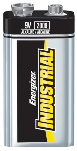 Energizer Battery EN22 Battery, 9V, Alkaline, Industrial (Pack of 12) by Energizer
