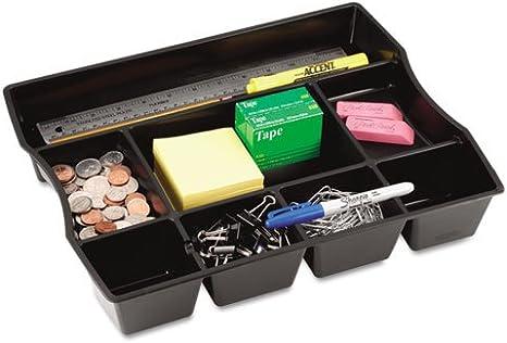 Amazon Com Nine Compartment Deep Drawer Organizer Plastic 14 7 8 X 11 7 8 X 2 1 2 Black Office Desk Organizers Office Products