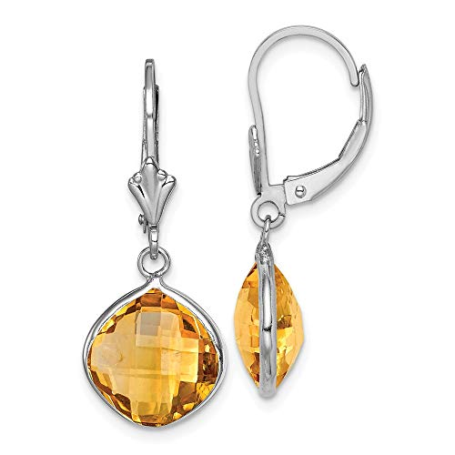 925 Sterling Silver Yellow Citrine Drop Dangle Chandelier Lever Back Leverback Earrings Fine Jewelry Gifts For Women For Her