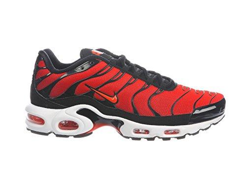 Nike Men's Air Max Plus Nylon Running Shoes Black/Team Orange/Team Red