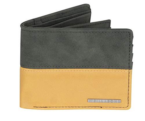 Billabong BiFold Wallet With Card, Coin and Note pockets ~ Fifty50 military (Billabong Card Wallet)