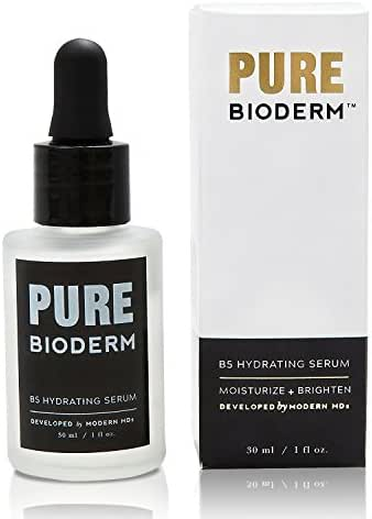 Hyaluronic Acid & Vitamin B5 Anti Aging Serum – Dermatologist Developed Hydrating and Skin Brightening Serum & Anti Aging Moisturizer w/ Pure Hyaluronic Acid for Wrinkle Repair, Dark Spots & Acne