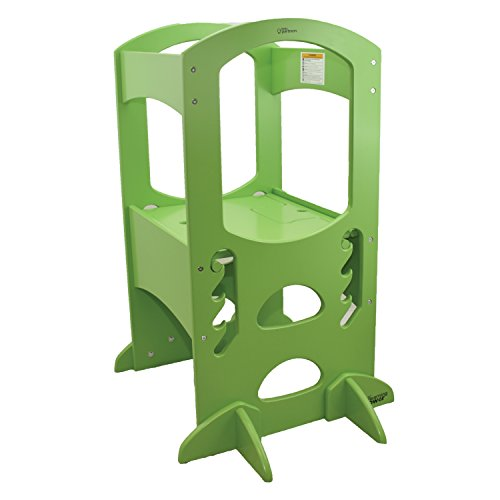 Little Partners Learning Tower Kids Step Stool | Adjustable Kitchen Counter Step-Up Helper (Natural)