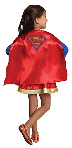 - 411d9h6DN6L - Imagine by Rubies DC Superheroes Supergirl Boxed Cape & Skirt Set