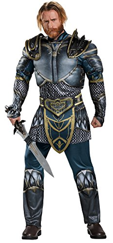 UHC Men's Lothar World Of Warcraft Muscle Fantasy Knight Halloween Costume