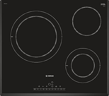 Bosch Serie 6 PKK651FP2E - Placa Vitroceramica Integrado, Vidrio y cerámica, Negro, 1200 W