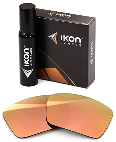 Spy Gold Lens - Polarized Ikon Iridium Replacement Lenses for Spy Cyrus Sunglasses - Rose Gold Mirror