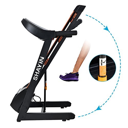 Treadmill Portable Folding Running Machine Indoor Commercial Home Health Fitness Training Equipment (US STOCK) by Shayin (Image #5)