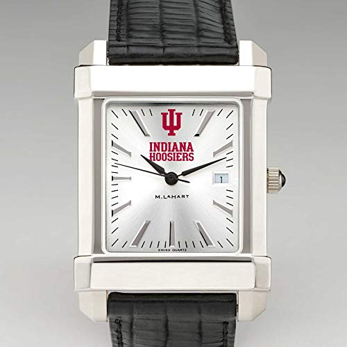 (M. LA HART Indiana University Men's Collegiate Watch with Leather Strap)