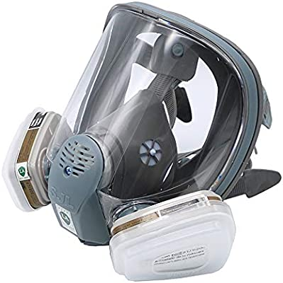Sjl Full Facepiece Respirator Painting Spraying Mask For 6800 Gas Mask Party Masks