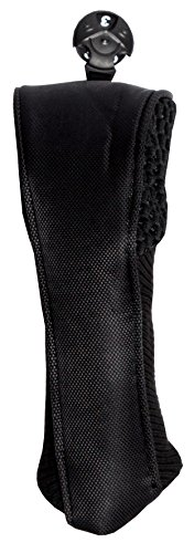 Golf Club Covers - Glove It - Women's Golf Head Cover for Hybrids - Ladies Golf Head Covers - Weather Resistant Polyester - Expandable Knit Fabric - 2018 Black Mesh -