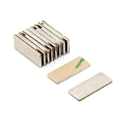2,2kg force dadh/érence pack de 10 Sud Magnet Expert/® Adh/ésif 25 x 10 x 1,5mm N42 n/éodyme aimant