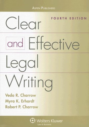 legal writing books Organization is the key to successful legal writing create a roadmap for your writing by using visual clues to guide the reader introduce your subject in an.