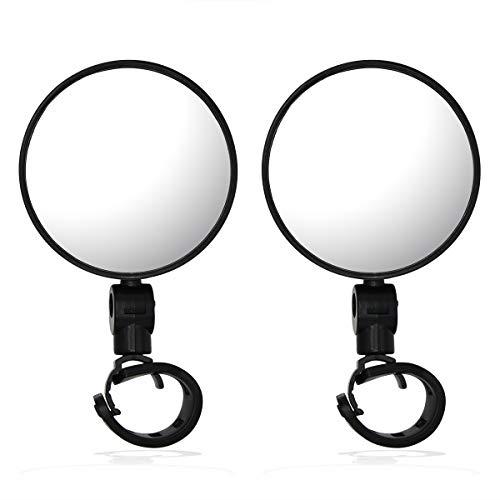 JCstarrie Bicycle Bike Rear View Mirror, Convex Reflector Mirror met brede hoek lens en verstelbare universele handgreep…