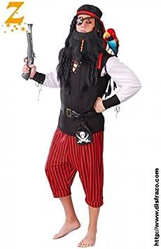 Pirata Disfraz de bucanero - Estándar: Amazon.es: Juguetes y juegos