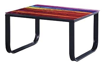 cribel gildo tavolino, vetro temperato/metallo, multicolore ... - Tavolino Laccato Company