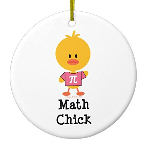 Christmas Crafts Math Chick Ornament Circle Round Novelty Ornament for Kids Christmas Tree Decor Present