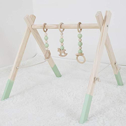 fessyc Wooden Baby Play Gym Baby Activity Gym Stylish Nursery Baby Wooden Gym Stand