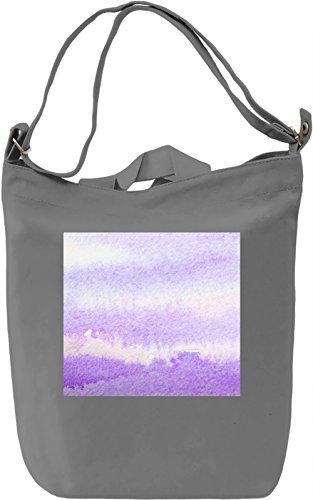 Light Purple Full Print Borsa Giornaliera Canvas Canvas Day Bag| 100% Premium Cotton Canvas| DTG Printing|
