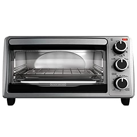 BLACK+DECKER 4-Slice Toaster Oven, Stainless Steel, TO1303SB - Wholesale Outlet
