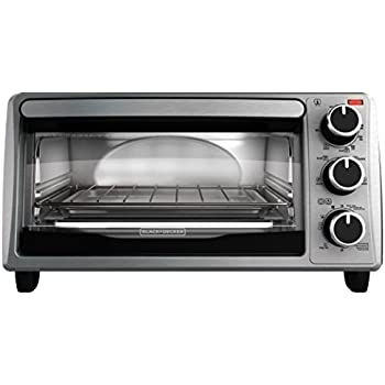 BLACK+DECKER 4-Slice Toaster Oven, TO1303SB, 14.5 x 8.8 x 10.8 inches 7.5 pounds, Stainless Steel/Black