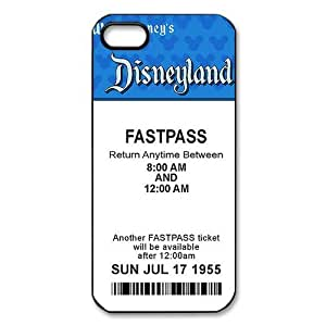 Disneyland Ticket Theme iphone 4/4s Case (TPU Material) White/Black iphone 4/4s Accessories Cover
