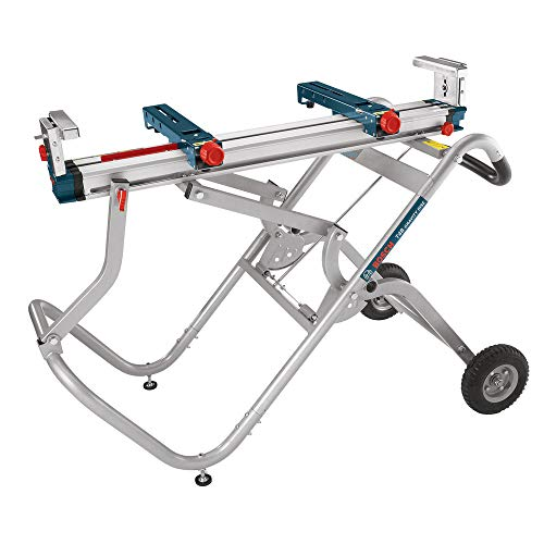 (Bosch Portable Gravity-Rise Wheeled Miter Saw Stand T4B)