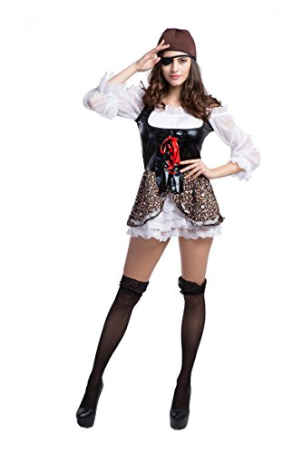 [Honeystore Women's Adult Pirate Wench Maiden Costume] (Pirate Maiden Adult Costumes)