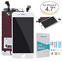 for iPhone 6 Screen Replacement LCD Display Touch Screen Digitizer Frame Assembly Full Set with Free Tools White