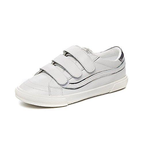 Women's Shoes Zapatos de mujer NAN 2018 Verano Parte inferior plana de velcro PU+ antideslizante y resistente al desgaste Talla 35-40 Blanco Zapatos Casuales, Blanco, EU36/UK4/CN36